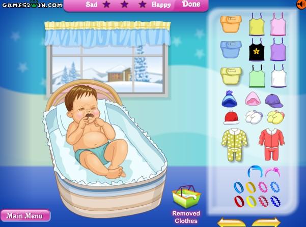 아기옷입히기